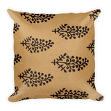 Super Soft Block Black Motifs Printed Square Pillow - TheVirasat - Home Furnishings Textile Exporter