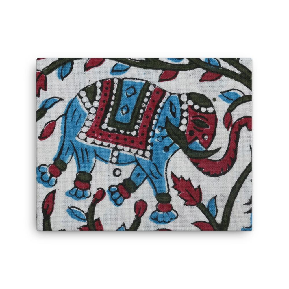 Buy Block Elephant Canvas With Matte Finish Coating - TheVirasat - Home Furnishings Textile Exporter