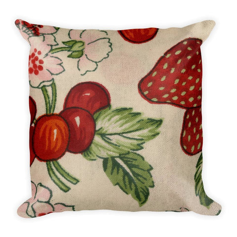 Block Fruits Square Pillow