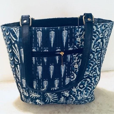 Handmade Women's Leather Party Purse | Fabric Bag - TheVirasat - Home Furnishings Textile Exporter
