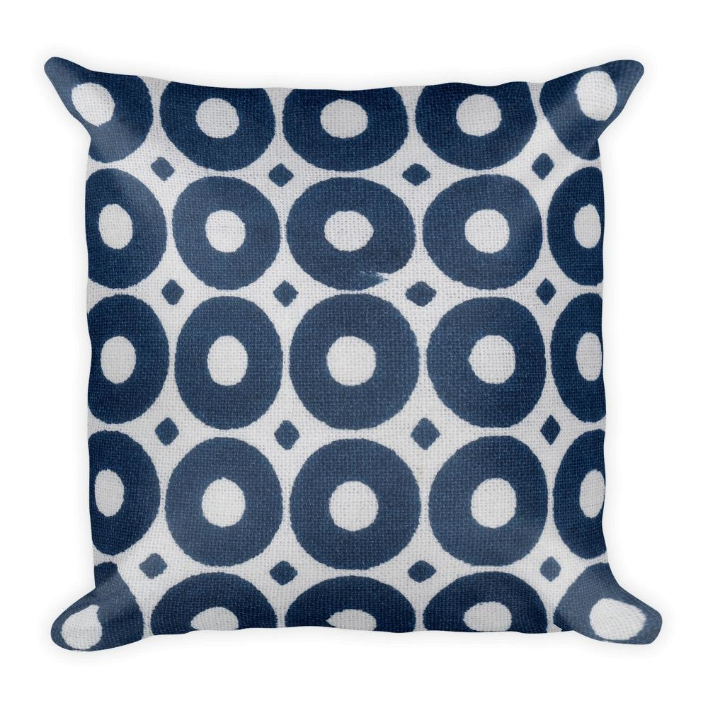 Blue Circles Square Pillow