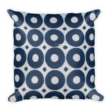 Buy Blue Circles Square Soft Printed Pillow - TheVirasat - Home Furnishings Textile Exporter