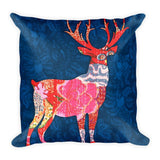 Coloured Deer Square Pillow, Premium Pillow, Printed Pillow - TheVirasat - Home Furnishings Textile Exporter