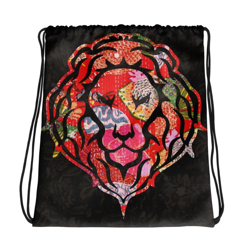 Coloured Lion, Drawstring bag, Lion Backpack