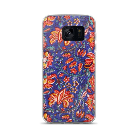 Fabric Print Samsung Case, Samsung Floral Case - TheVirasat - Home Furnishings Textile Exporter