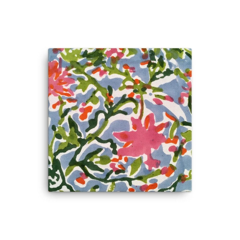 Floral Art Canvas With Matte Finish Coating - TheVirasat - Home Furnishings Textile Exporter