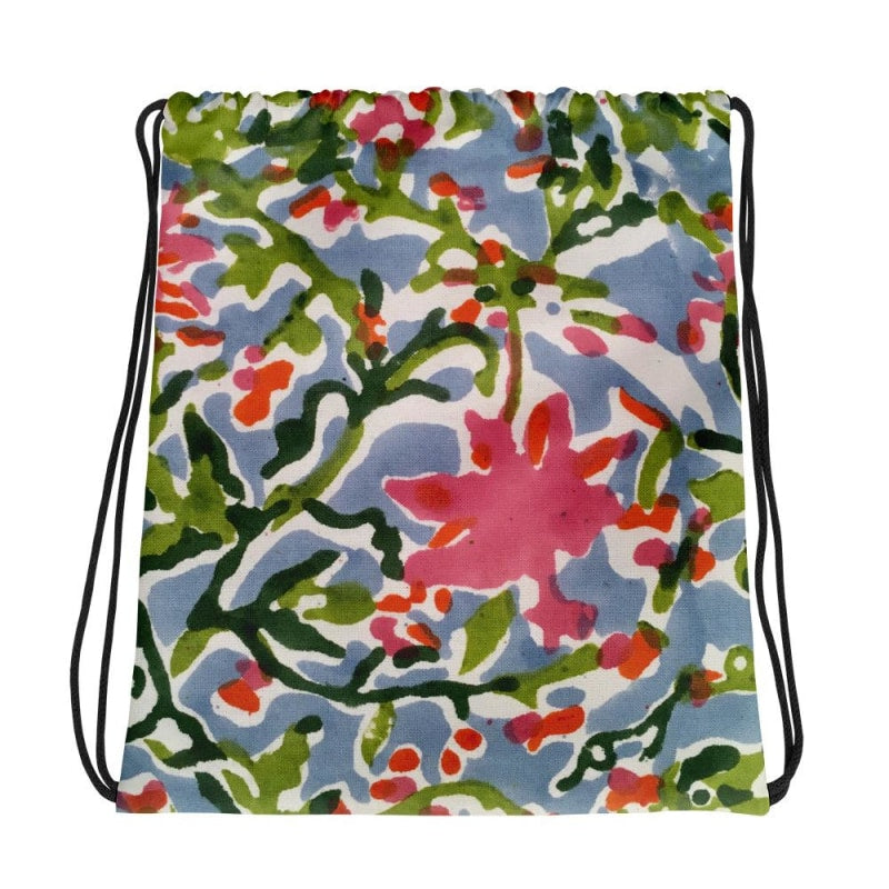 Floral Drawstring bag, Floral Backpack - TheVirasat - Home Furnishings Textile Exporter