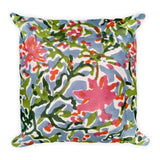 Floral Mix Square Pillow Limited Edition Pillow - Printed