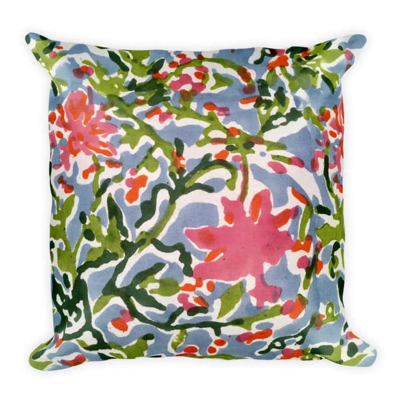 Floral Mix Square Pillow, Limited Edition Pillow - Printed - TheVirasat - Home Furnishings Textile Exporter