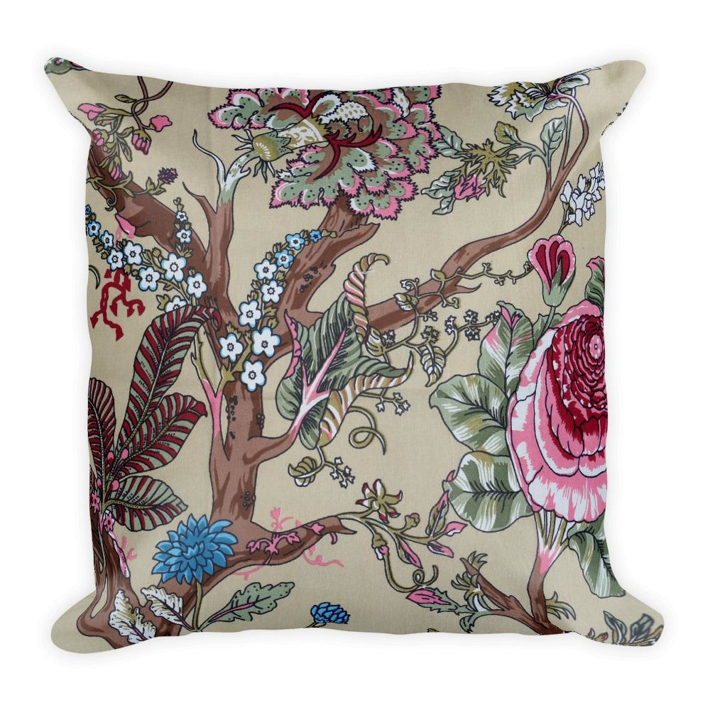 Printed Floral Square Pillow For Sale - TheVirasat - Home Furnishings Textile Exporter