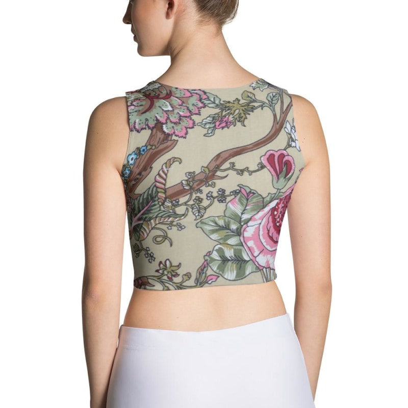 Floral Sublimation Cut & Sew Crop Top