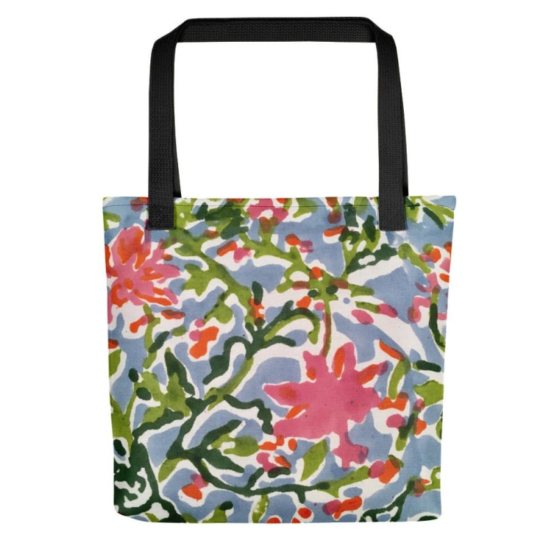 Floral Tote bag, Printed Tote Bag - TheVirasat - Home Furnishings Textile Exporter