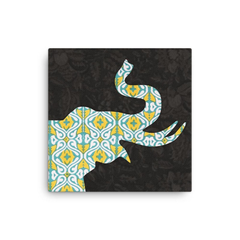 Green Elephant Canvas