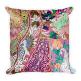 Hand Stitched Look Square Pillow - Printed