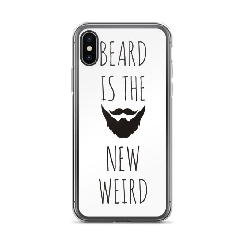 "Beautiful iPhone White Case - ""Beard is the new Weird"" - TheVirasat - Home Furnishings Textile Exporter"