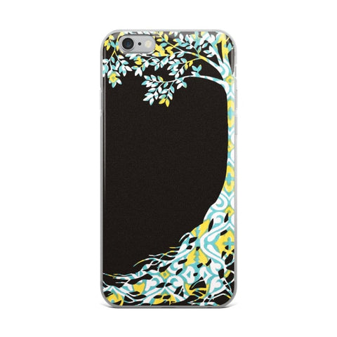 Green Tree Solid Back iPhone Cases & Covers - TheVirasat - Home Furnishings Textile Exporter
