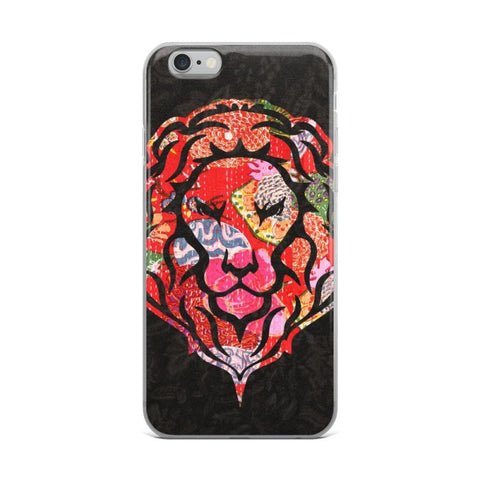 Decorated Lion Solid Back iPhone Cases & Covers - TheVirasat - Home Furnishings Textile Exporter