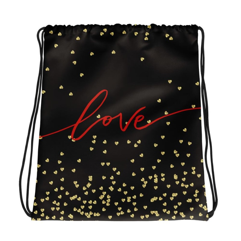 Love Drawstring bag, Love Backpack - TheVirasat - Home Furnishings Textile Exporter