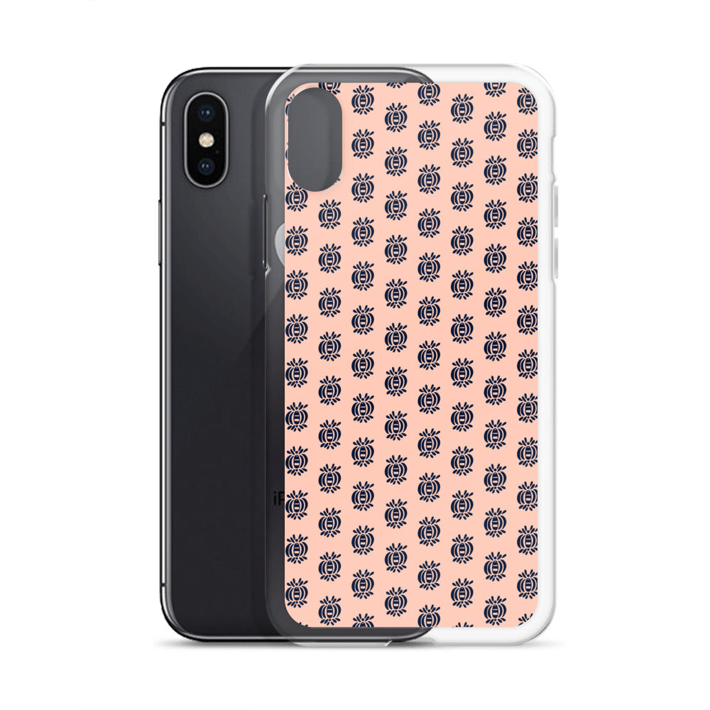 Blue Motifs iPhone Case