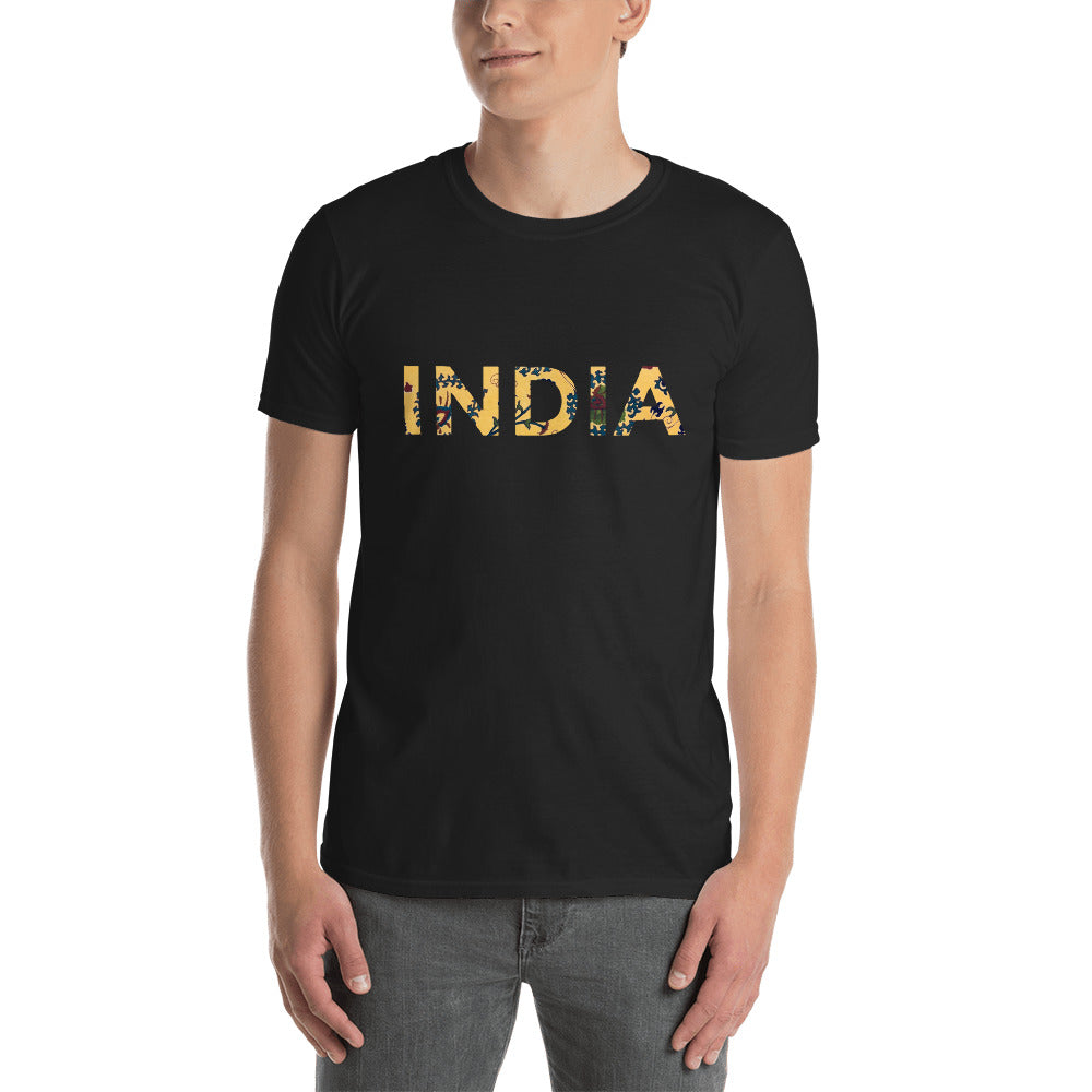 India Short-Sleeve Unisex T-Shirt - TheVirasat - Home Furnishings Textile Exporter