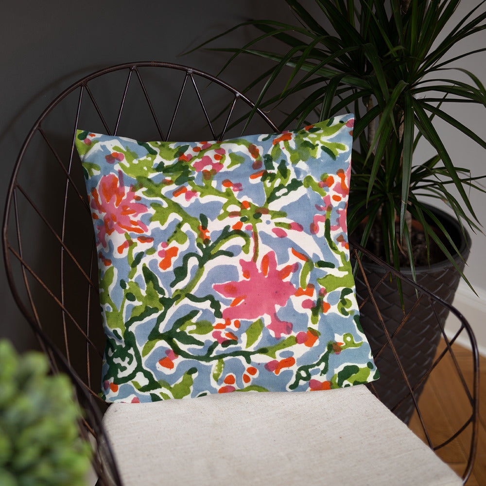 Super Soft & Decorative Floral Pillow - TheVirasat - Home Furnishings Textile Exporter