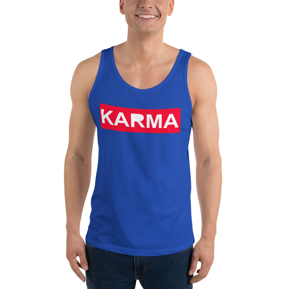 Trending Karma Unisex Tank Top Buy Online - TheVirasat - Home Furnishings Textile Exporter