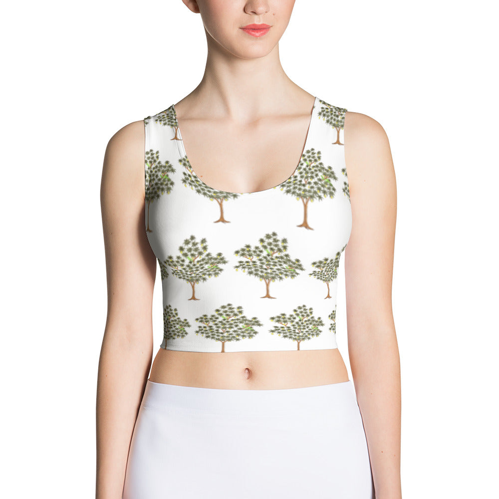Tree Cut & Sew Crop Top, Tree Crop Top