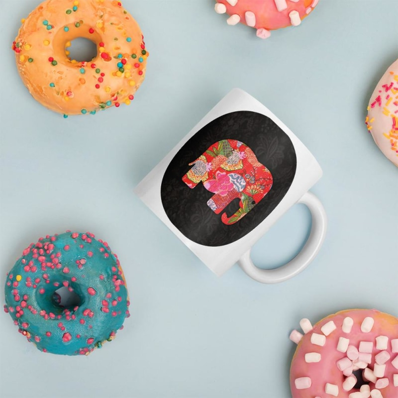 Multicoloured Elephant Mug