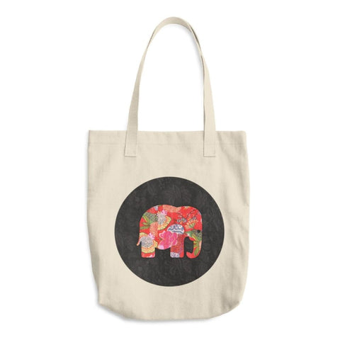 Premium Elephant Cotton Tote Bag - TheVirasat - Home Furnishings Textile Exporter