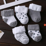 5 Pair/lot new cotton thick baby toddler socks