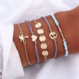 IPARAM Bohemian Shell Map Turtle Bracelet Set 2019 Retro Geometric Statement Female Glamour Fashion Jewelry Jewelry Gift
