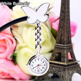 Pocket And Watch Watch lady Butterfly Smiley Face Quartz Clip Brooch Nurse Hanging Pocket Watch Hot Sale Watch Men's And Women's