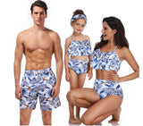 Dad Daughter Swimwear Beach Bath Swimsuits Family Look Bikini Mommy and Me Clothes Mom and Daughter Matching Dresses Outfits