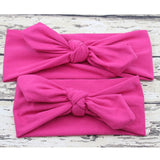 2PCS/Set Mom and Me Headband Bows Bunny Ears Cotton Headbands
