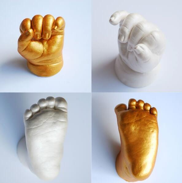3D Hand & Foot Print Mold for Baby Powder Plaster Casting Kit