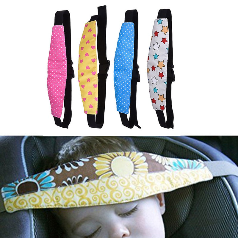 Baby Infant Car Safety Seat Belt Sleep Aid Head Support for Kids Toddler Auto Doze Head Fixed Tape Travel Sleep Aid Head Strap
