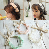 Cute baby Hair Accessories Bow Lace Flower headband baby girl