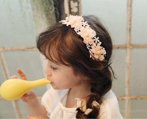 Cute baby Hair Accessories Bow Lace Flower headband baby girl cotton Hairband Newborn Girl Elastic Hair Band Accessories bebe