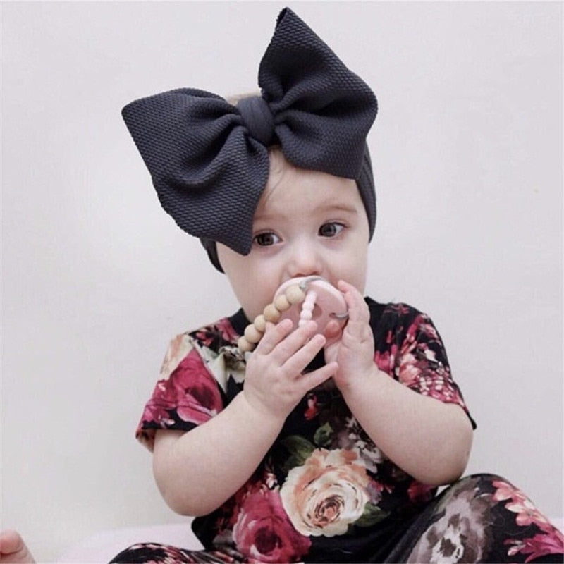 Adjustable Big Bow Headwrap Baby Headband