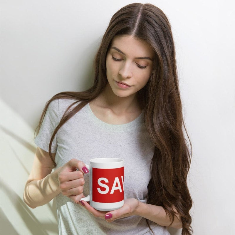 Savage Mug Buy Online | Beautiful White Colored Mug - TheVirasat - Home Furnishings Textile Exporter