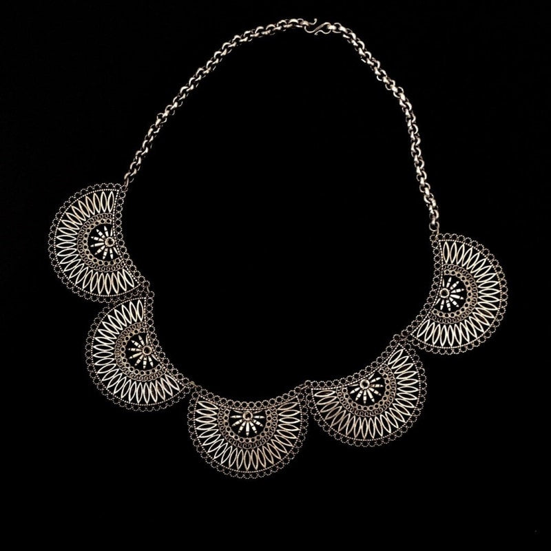 Silver Necklace | Buy Online At Best Price - TheVirasat - Home Furnishings Textile Exporter