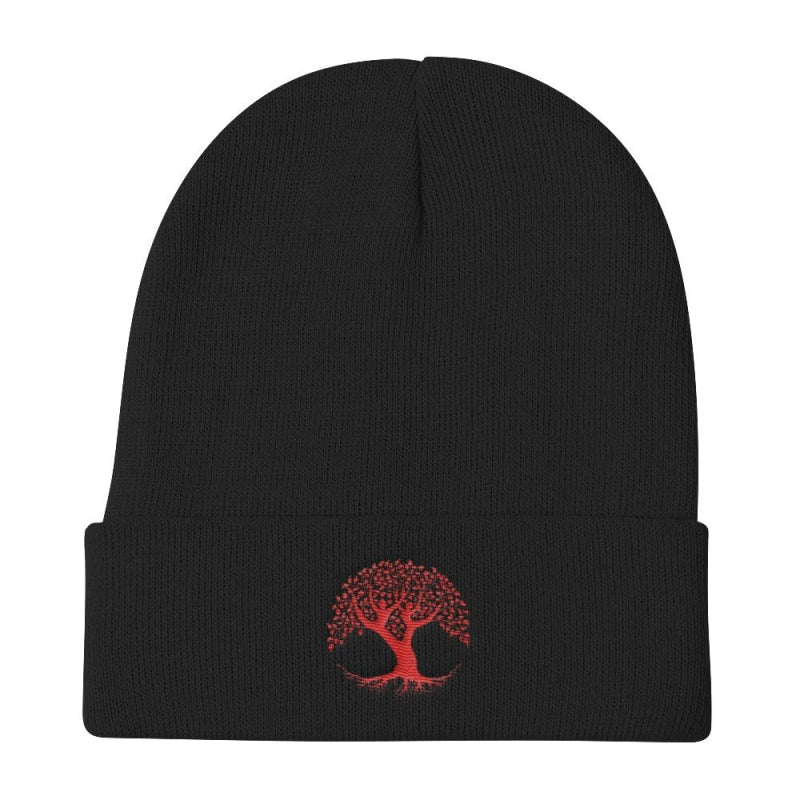 Tree of Life Knit Beanie, Woolen Cap - TheVirasat - Home Furnishings Textile Exporter