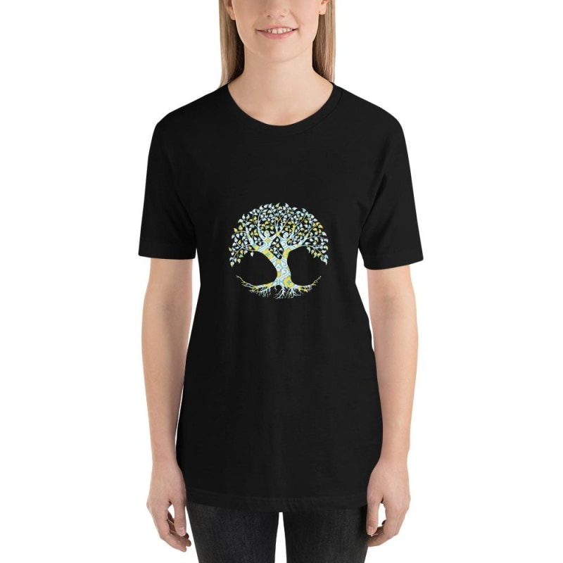 Tree Of Life Short-Sleeve Unisex T-Shirt - Printed - Black / S