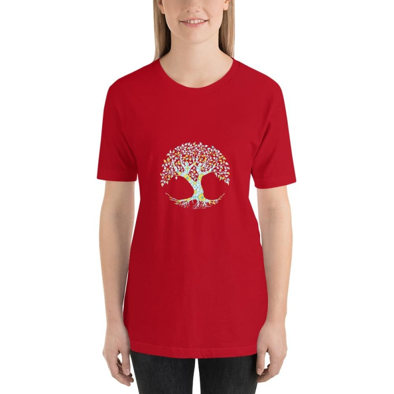 Tree Of Life Short-Sleeve Unisex T-Shirt - Printed - Red / S
