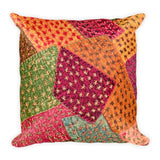 Vintage Patchwork Square Pillow - Printed - TheVirasat - Home Furnishings Textile Exporter