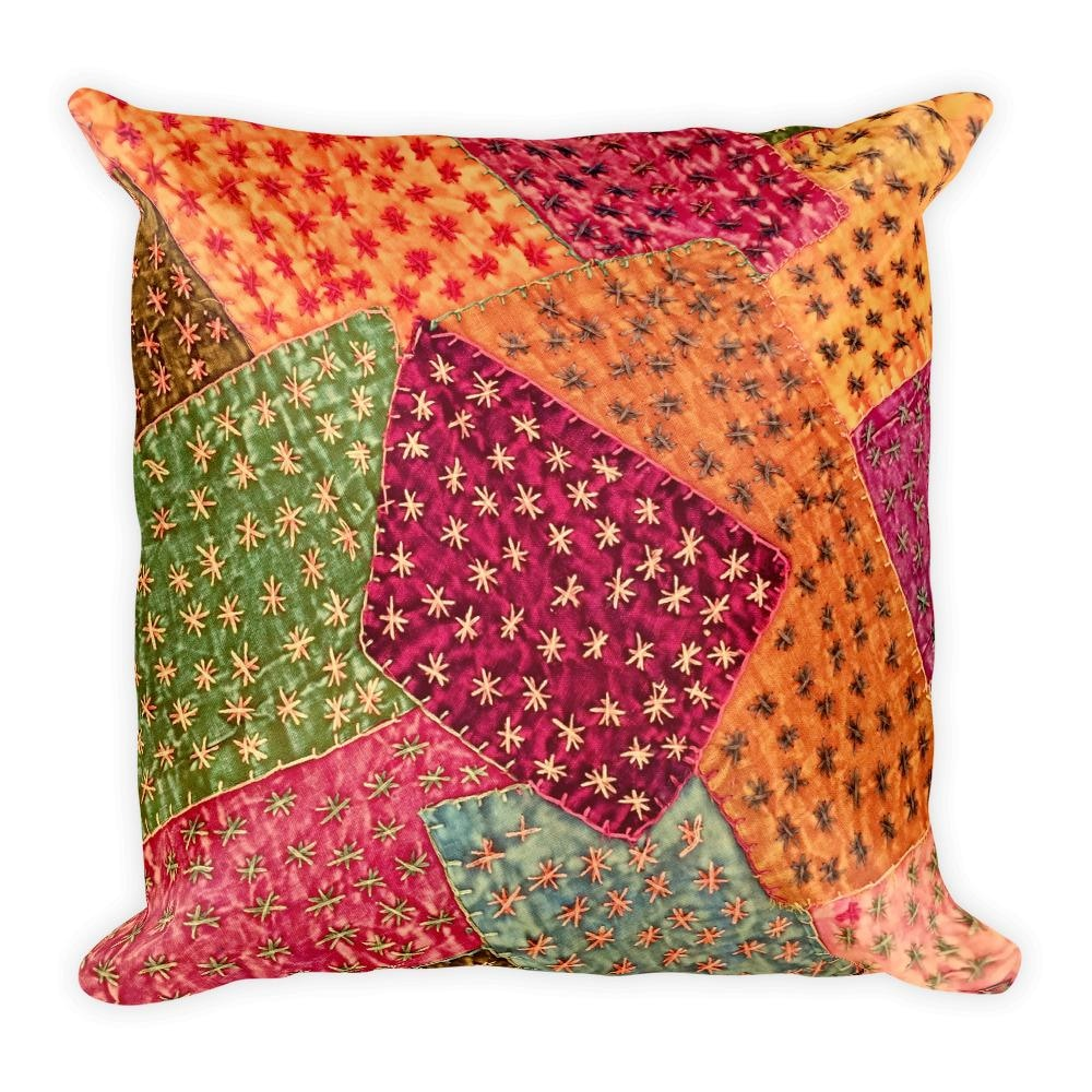 Vintage Patchwork Square Pillow