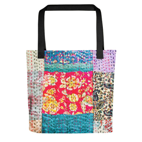 Vintage Silk stitch look Tote bag - Printed