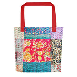 Vintage Silk stitch look Tote bag - TheVirasat - Home Furnishings Textile Exporter
