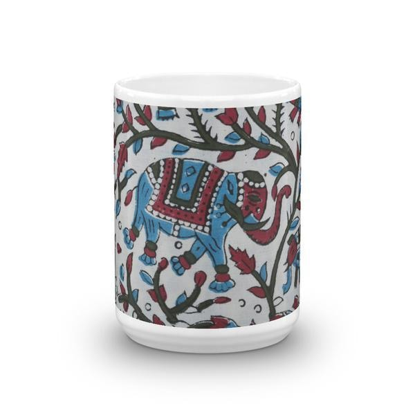 Watercolour Block Elephant Coffee Mug - TheVirasat - Home Furnishings Textile Exporter