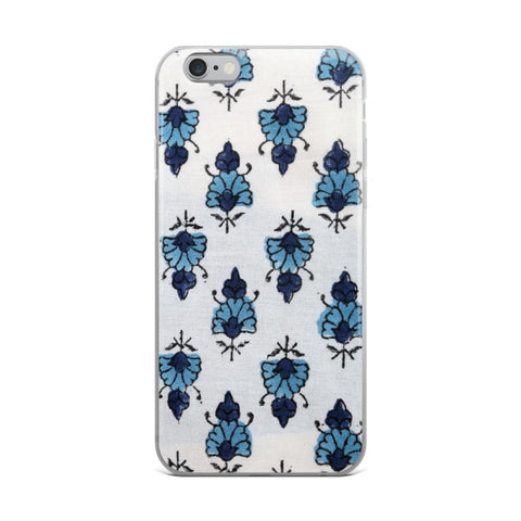 Watercolour Blue Flowers iPhone Case